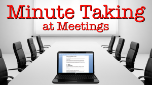 Effective Minute Taking Training Course